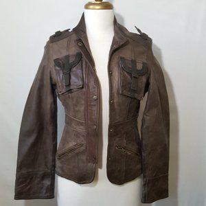 Wilsons Leather Snap Close Biker Jacket